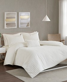Urban Habitat Sadie King/California King Cotton Chenille Jacquard 4 Piece Duvet Cover Set