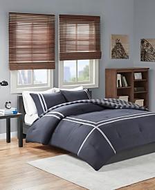 Intelligent Design Oxford Full/Queen 3 Piece Reversible Comforter Mini Set