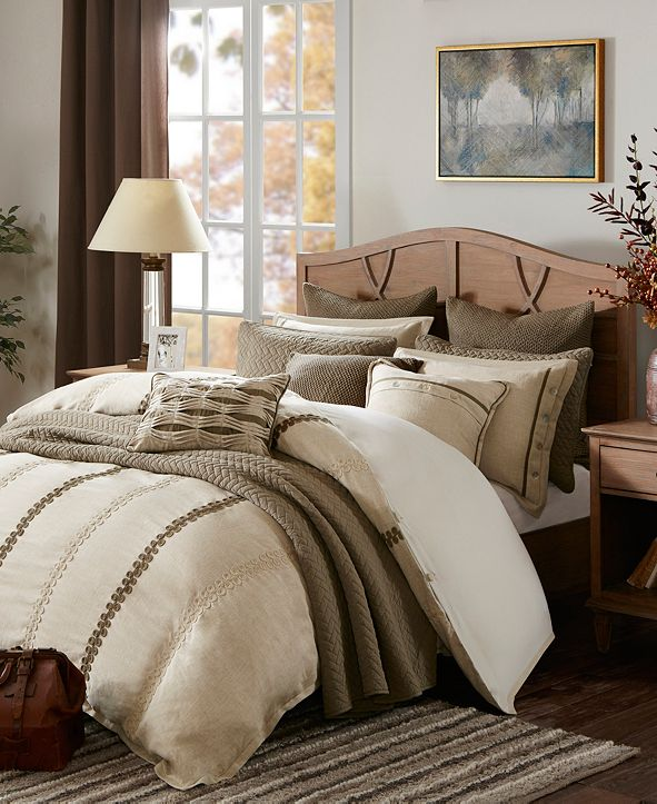 JLA Home Madison Park Signature Chateau Queen 8 Piece Comforter Set
