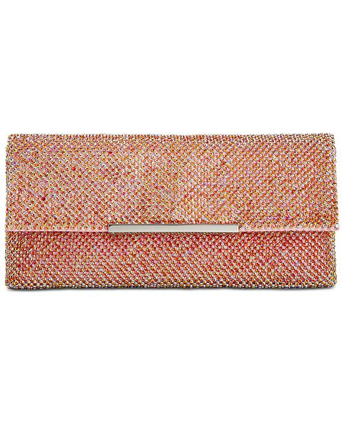 INC International Concepts I.N.C. Hether Shiny Mesh Clutch, Created for Macy's