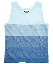 Univibe Big Boys Cash Colorblocked Stripe Tank