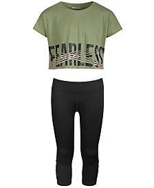 Ideology Big Crop T-Shirt & Cage Capri Leggings, Created for Macy's
