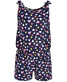Epic Threads Toddler Girls Heart-Print Romper, Created for Macy's