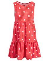 da47e452e0f8 Epic Threads Little Girls Dot-Print Tiered Dress, Created for Macy's