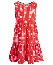 Epic Threads Little Girls Dot-Print Tiered Dress, Created for Macy's
