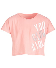 Ideology Big Girls Graphic-Print Cropped T-Shirt, Created for Macy's