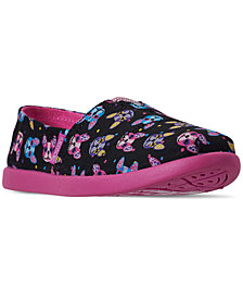 Skechers Little Girls' Lil' BOBS Solstice 2.0 - Paw-Some Slip-On Casual Sneakers from Finish Line