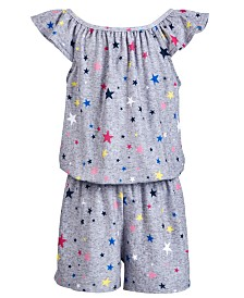 Epic Threads Toddler Girls Star-Print Romper, Created for Macy's