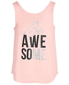 Ideology Big Girls Graphic Strappy-Back Tank Top, Created for Macy's