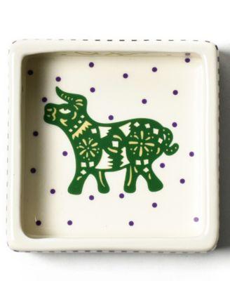 by Laura Johnson Chinese Zodiac Ox Square Trinket Bowl