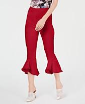 82bac9ee9120d5 I.N.C. Cropped Ruffle-Hem Pants, Created for Macy's