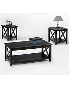 Seascape Ii 3 Pack Lift Top Cocktail, End and Chairside Table