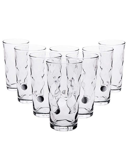 Pasabahce Space 8 Piece 16.75 Ounce Cooler Glass Set
