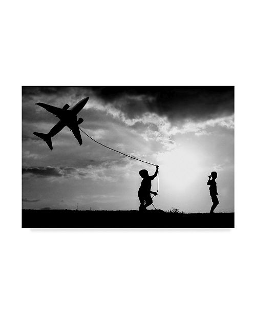 "Trademark Global Trijoko 'Fly My Plane' Canvas Art - 47"" x 30"" x 2"""