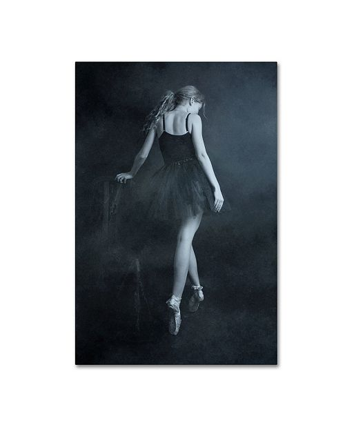 "Trademark Innovations Olga Mest 'On Tip Toes' Canvas Art - 19"" x 12"" x 2"""