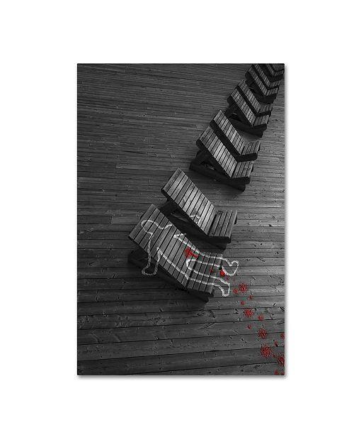 "Trademark Global David Senechal 'Crime Scene' Canvas Art - 32"" x 22"" x 2"""