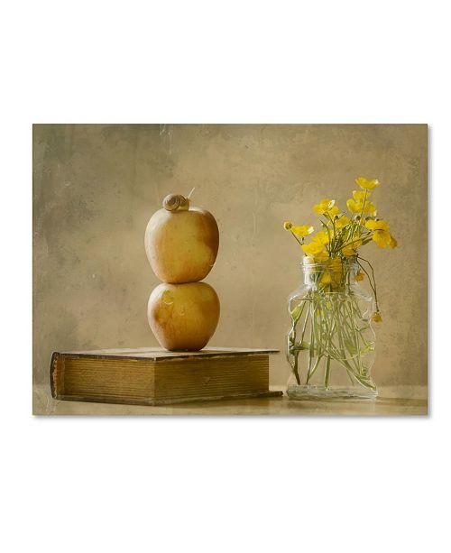 "Trademark Global Delphine Devos 'Wild Flowers' Canvas Art - 24"" x 18"" x 2"""