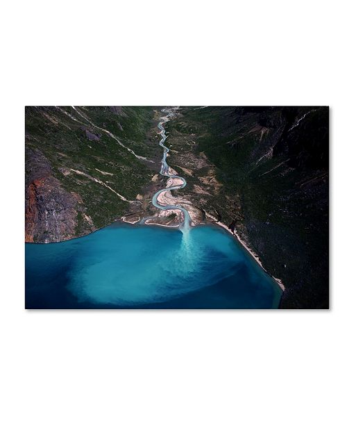 "Trademark Global Danish Photography By 'Clear Stream' Canvas Art - 32"" x 22"" x 2"""