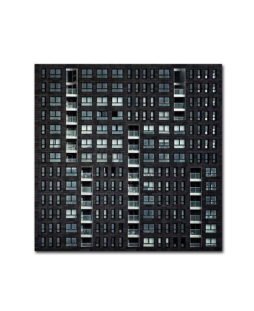 "Trademark Global Piet Flour 'Living In The City' Canvas Art - 14"" x 14"" x 2"""