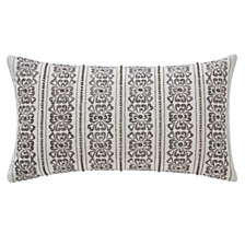 "Celine Dove Grey 11"" X 20"" Breakfast Collection Decorative Pillow"