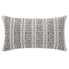 """Waterford Celine Dove Grey 11"""" X 20"""" Breakfast Collection Decorative Pillow"""