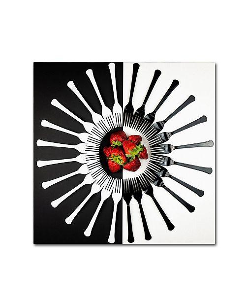 "Trademark Global Mike Melnotte 'Strawberry Designs' Canvas Art - 24"" x 24"" x 2"""