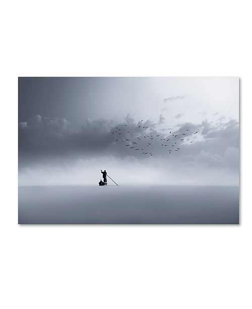 "Trademark Global Mohammed Sattar 'The Way Back' Canvas Art - 32"" x 22"" x 2"""