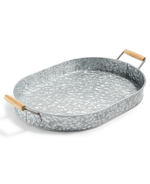 Martha Stewart Collection CLOSEOUT! Galvanized Tray, Created for Macy's