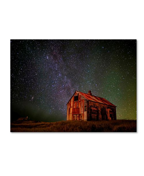 "Trademark Global Iurie Belegurschi 'Space House' Canvas Art - 32"" x 24"" x 2"""