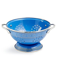 Martha Stewart Collection La Dolce Vita 3-Qt. Blue Colander, Created for Macy's