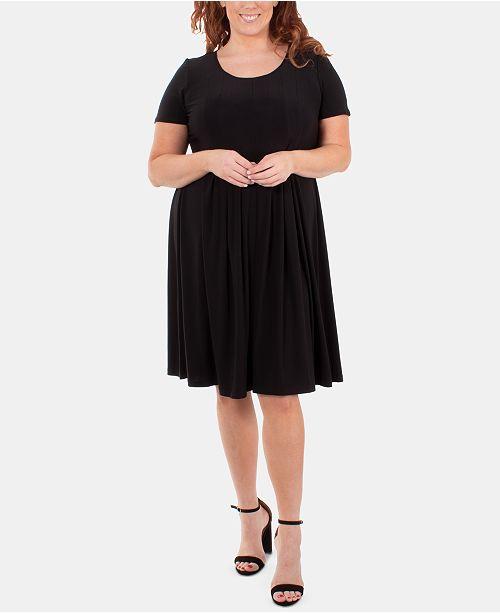 Plus Size Pleated Dress
