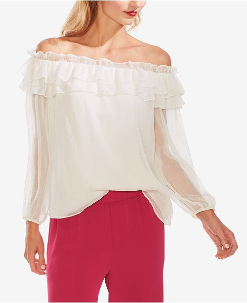 Vince Camuto Ruffled Off-The-Shoulder Top