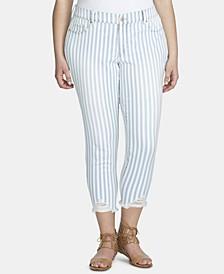 Trendy Plus Size Tummy-Control Skinny Jeans