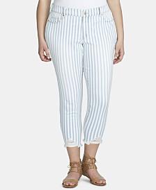 Jessica Simpson Trendy Plus Size Tummy-Control Skinny Jeans