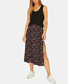 Sanctuary Hollyhock Printed Midi Skirt