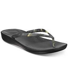 FitFlop Iqushion Tortoiseshell-Effect Flip-Flop Sandals