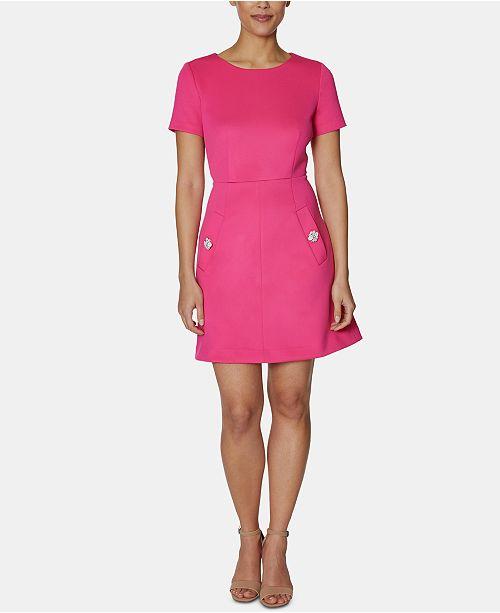 Betsey Johnson Embellished-Pocket A-Line Dress