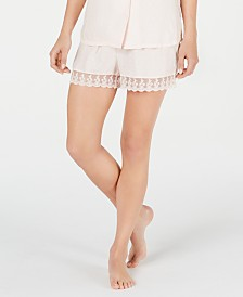 Charter Club Lace-Trim Pajama Shorts, Created for Macy's