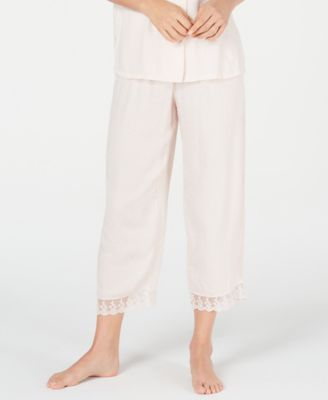 Lace-Trim Cropped Pajama Pants, Created for Macy's