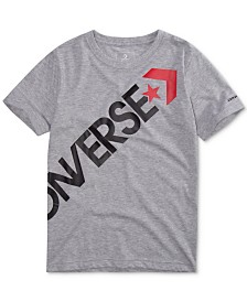 Converse Big Boys Crossbody Logo Cotton T-Shirt