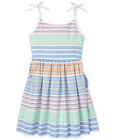 Polo Ralph Lauren Toddler Girls Striped Cotton Dress