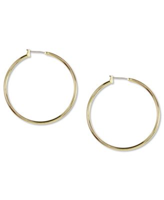Image of Anne Klein Gold-Tone Large Hoop Earrings