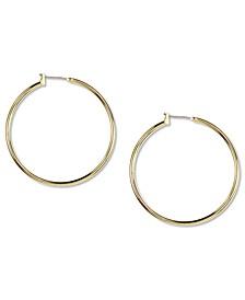 Gold-Tone Large Hoop Earrings