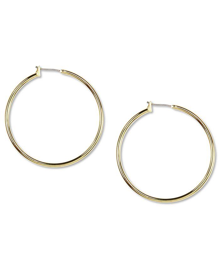 Anne Klein - Gold-Tone Large Hoop Earrings
