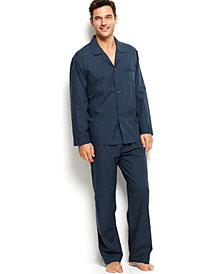 Club Room Men's Mini Blackwatch Pajamas, Shirt and Pants Set