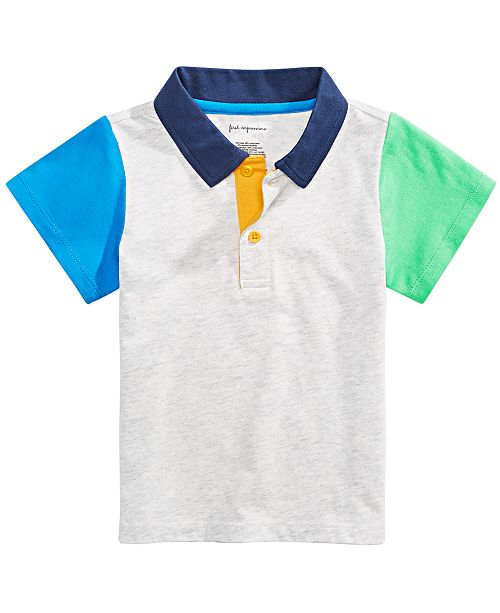First Impressions Baby Boys Colorblocked Polo Shirt, Created for Macy's