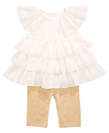 First Impressions Baby Girls 2-Pc. Ruffle Tunic & Leggings Set, Created for Macy's