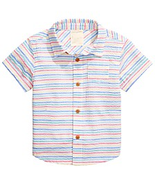 First Impressions Baby Boys Striped Seersucker Shirt, Created for Macy's