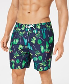 "Trunks Surf & Swim Co. Men's Cactus 6"" Swim Trunks"