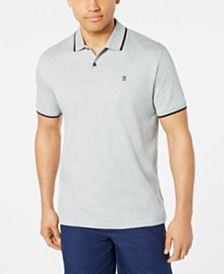 DKNY Men's Tipped Logo-Print Supima Cotton Polo